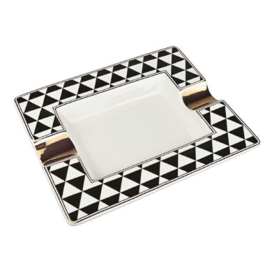 Doutníkový popelník keramický Triangles(422006)