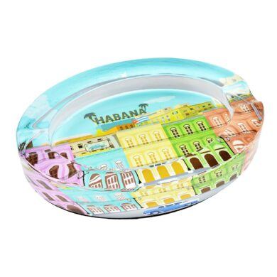 Doutníkový popelník skleněný Habana 2D(523582)