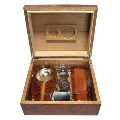 Doutníkový Humidor Set hnědý 30D, stolní(82059)