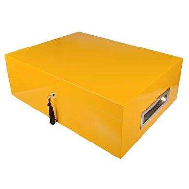 Humidor na doutníky Villa Spa žlutý 80D, stolní(1028)