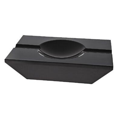 Doutníkový popelník křišťálový, černý(422250)