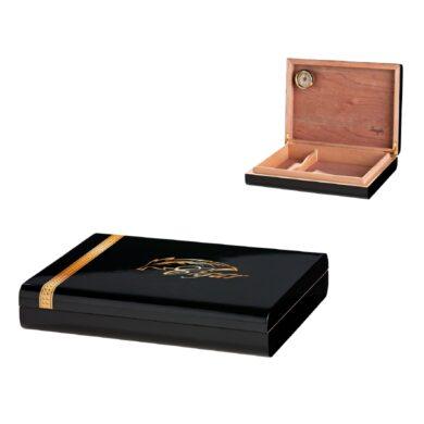 Humidor na doutníky černý s Peříčkem cestovní(920580)