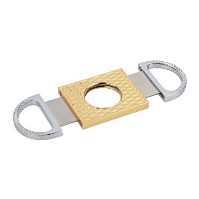 Doutníkový ořezávač Angelo, chrom-zlatý(500420)