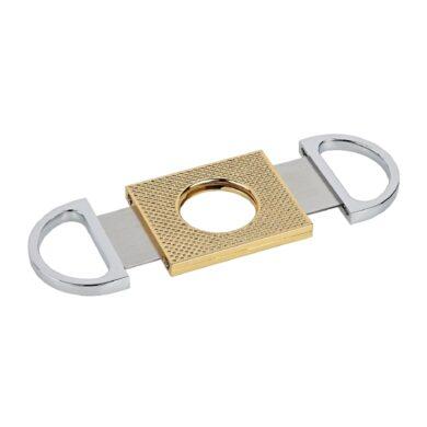 Doutníkový ořezávač Angelo, chrom-zlatý(500430)