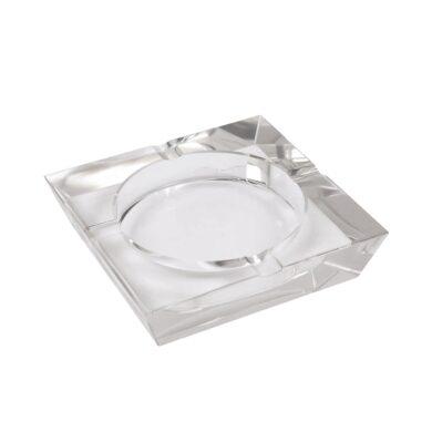 Doutníkový popelník skleněný, hranatý(09628)