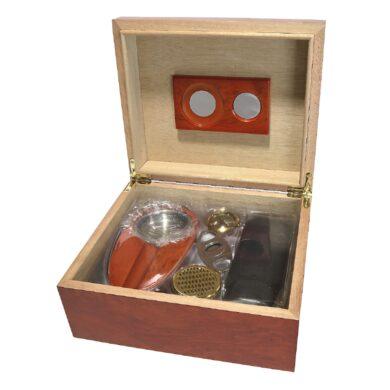 Doutníkový Humidor Set hnědý 35D, stolní(569123)