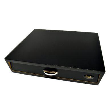 Humidor na doutníky Angelo Drawer Black 10D, stolní, černý(920017)