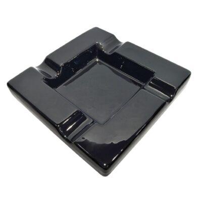 Doutníkový popelník keramický, černý(523042)