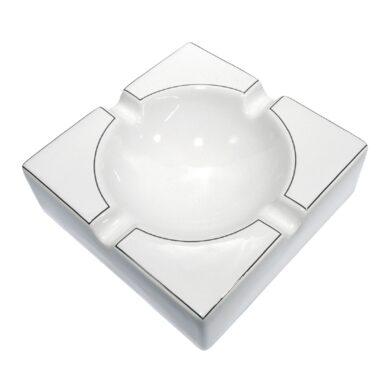 Doutníkový popelník keramický, bílostříbrný(523051)