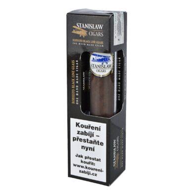 Doutník Stanislaw Robusto Black Line Glass Set ořezávač a zápalky, 1ks(32733)