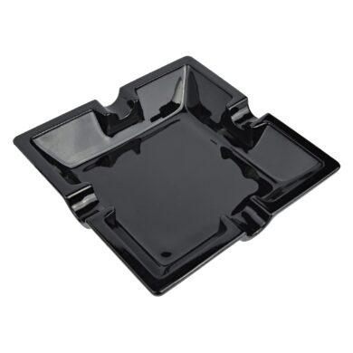 Doutníkový popelník keramický černý, 4D(11240)