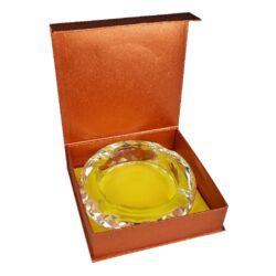 Doutníkový popelník křišťál Honeycomb 18cm, 4D, čirý(38005)