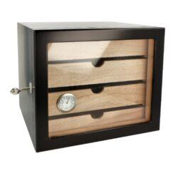 Humidor na doutníky Cabinett černý 60D, stolní(920008)