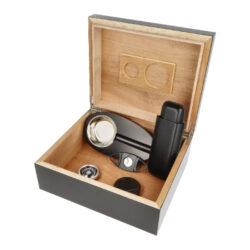 Humidor na doutníky SET 25, černý, 26x22,5x10,5cm(13050)