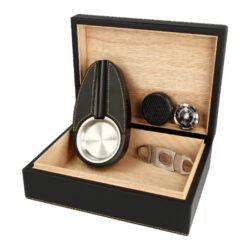 Humidor na doutníky SET 20, black, 25x19x9cm(29023)