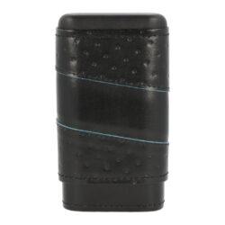 Pouzdro na 3 doutníky Spin, kožené, černé, 145mm(93008)