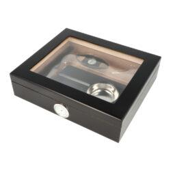 Humidor na doutníky Set 15D černý, 26x22x7cm(569181)