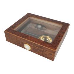 Humidor na doutníky Set 15D hnědý, 26x22x7cm(569182)