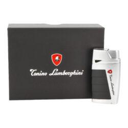 Doutníkový zapalovač Lamborghini Leandro 2xJet, chrome(910630)