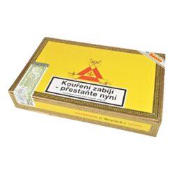 Doutníky Montecristo No 2, 25ks-Kubánské doutníky Montecristo No 2. Ručně balené doutníky se špičatou hlavou mají výbornou konstrukci. Na začátku ucítíte velmi příjemné chutě dřevité, poté Vás ale překvapí výrazné chutě spolu s kávovým aromatem. Tyto kubánské doutníky vynikající kvality jsou vyráběné z kvalitních tabákových listů ze známých tabákových plantáží. Doba hoření je cca 45-90 minut. Doutníky Montecristo patří mezi jedny z nejprodávanějších kubánských doutníků na světě díky jejich kvalitě a výborné chuti. Charakteristická je jejich výrazná středně silná až silná chuť a zapamatovatelná krabice s motivem známého románu Hrabě Monte Christo. Doutníky Montecristo No 2 jsou balené po 25 ks v originální cedrové krabici s logem Montecristo a prodávají se pouze po celém balení.  Délka: 156 mm Průměr: 20,6 mm Velikost prstýnku: 52 Tvar/velikost doutníku: Piramides Typ doutníku dle skladování: doutník vlhký  Původ doutníku: Kuba Krycí list: Kuba Vázací list: Kuba Náplň: Kuba Síla tabáku: medium to full  Doutník Montecristo No.2 byl v magazínu Cigar Aficionado vyhlášený jako vítěz TOP 25 doutníků roku 2013 s 96 body.