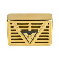 Zvlhčovač obdélníkový, 7,5x5x2,1cm, zlatý-Obdélníkový zvlhčovač do humidoru. Rozměr: 7,5x5x2,1cm.