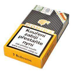 Doutníky Cohiba Robustos C/P, 3ks-Kubánské doutníky Cohiba Robustos C/P. Balené po 3 ks. Délka: 124mm, průměr: 19,8mm. Odběr po celém balení.