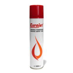 Plyn do zapalovače Eurojet 300ml-Plyn do zapalovačů v balení 300 ml. Kryt obsahuje 5 různých redukcí na plnění běžně prodávaných zapalovačů. Plnicí hrot je plastový.  Rozměry: Plnící hrot - délka/vnější průměr/vnitřní průměr: 15mm/3mm/1mm Výška plynové náplně s víčkem: 237mm Výška bez víčka včetně plnícího hrotu: 220mm Průměr náplně: 53mm
