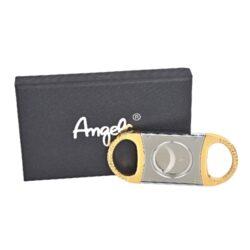 Doutníkový ořezávač Angelo, chrom-zlatý(50036)