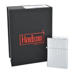 Tryskový zapalovač Hadson Pilot, chrom, rýhy(10215)