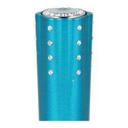 SLEVA Dámský zapalovač Hadson Lipstick, modrý, bílé kamínky Swarovski(10244)