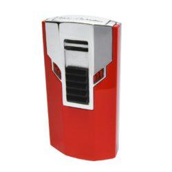Tryskový zapalovač Lamborghini Estremo, červený-Elegantní tryskový zapalovač Tonino Lamborghini Estremo. Kvalitně zpracovaný zapalovač obsahuje na spodní straně nastavení intenzity plamene a ventil pro plnění. Na zadní straně najdete okénko, kde je možné vidět hladinu plynu v zapalovači. Tryskový zapalovač je dodáván v kožené krabičce vyložené jemným sametem. Ideální jako dárek pro kuřáky cigaret. Výška 7cm.