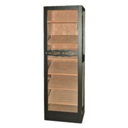 Humidor na doutníky Angelo Jason 300D, skříňový-Skříňový humidor na doutníky s prosklenými dveřmi a boky a šesti úložnými plochami a kapacitou cca 300 až 400 doutníků. Dodáván s plně automatický zvlhčovačem Cigar Oasis II XL. Vnitřek humidoru je vyložený cedrovým dřevem. Rozměr: 172x41x55 cm.  Humidory jsou dodávány nezavlhčené, proto Vám nabízíme bezplatnou volitelnou službu Zavlhčení humidoru, kterou si vyberete v Souvisejícím zboží. Nový humidor je nutné před prvním uložením doutníků zavlhčit, upravit a ustálit jeho vlhkost na požadovanou hodnotu. Dobře zavlhčený humidor uchová Vaše doutníky ve skvělé kondici.