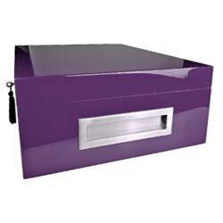 Humidor na doutníky Villa Spa fialový 80D, stolní(260C)