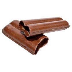 Etue na 2 doutníky, hnědá, 130mm(812100)