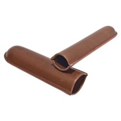 Pouzdro na 1 doutník Angelo, hnědé, koženka, 160mm(811010)
