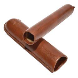 Pouzdro na 1 doutník Angelo, hnědé, koženka, 180mm(811040)