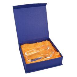 Doutníkový popelník skleněný, obdelník(09625)