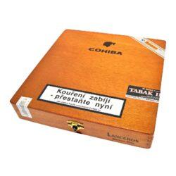 Doutníky Cohiba Lanceros, 25ks-Kubánské doutníky Cohiba Lanceros. Balené po 25 ks v dřevěné krabici. Délka: 192mm, průměr: 15,06mm. Odběr po celém balení.