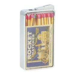 Zapalovač Champ Matches-Kovový plynový zapalovač. Zapalovač je plnitelný. Výška zapalovače 5,5cm. Při nákupu celého balení (12ks), je dodáván stojánek z kartonu. Cena je uvedena za 1 ks.
