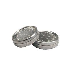 Zvlhčovač kulatý, 3x0,9cm, 2ks-Kovový kulatý zvlhčovač do humidoru. Balení 2 ks. Rozměr: 3x0,9cm