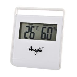 Vlhkoměr Angelo, 7,5x6,5x1cm, digitální-Jednoduchý malý digitální vlhkoměr, kterým přesně zjistíte okamžitou vlhkost v humidoru. Bateriový provoz. Provedení: bílé. Rozměr: 7,5x6,5x1cm.