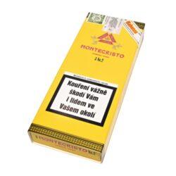 Doutníky Montecristo No 2, 3ks-Kubánské doutníky Montecristo No 2. Ručně balené doutníky se špičatou hlavou mají výbornou konstrukci. Na začátku ucítíte velmi příjemné chutě dřevité, poté Vás ale překvapí výrazné chutě spolu s kávovým aromatem. Tyto kubánské doutníky vynikající kvality jsou vyráběné z kvalitních tabákových listů ze známých tabákových plantáží. Doba hoření je cca 45-90 minut. Doutníky Montecristo patří mezi jedny z nejprodávanějších kubánských doutníků na světě díky jejich kvalitě a výborné chuti. Charakteristická je jejich výrazná středně silná až silná chuť a zapamatovatelná krabice s motivem známého románu Hrabě Monte Christo. Doutníky Montecristo No 2 jsou balené po 3 ks v originální papírové krabičce s logem Montecristo a prodávají se pouze po celém balení.  Délka: 156 mm Průměr: 20,6 mm Velikost prstýnku: 52 Tvar/velikost doutníku: Piramides Typ doutníku dle skladování: doutník vlhký  Původ doutníku: Kuba Krycí list: Kuba Vázací list: Kuba Náplň: Kuba Síla tabáku: medium to full  Doutník Montecristo No.2 byl magazínu Cigar Aficionado vyhlášený jako vítěz TOP 25 doutníků roku 2013 s 96 body.