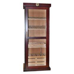 Humidor na doutníky Cabinet třešeň 300D, skříňový-Skříňový humidor na doutníky s kapacitou cca 300 doutníků. Dodáván se zámkem, pěti poličkami, bez vlhkoměru a zvlhčovače. Vnitřek humidoru je vyložený cedrovým dřevem. Rozměr: 176x67x47 cm.
