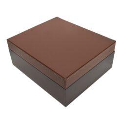 Humidor na doutníky Koženka 25D, stolní, černohnědý(09444)