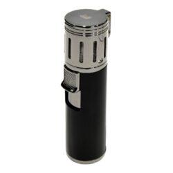 Doutníkový zapalovač Winjet 4 Jet-Doutníkový zapalovač. Tryskový zapalovač na doutníky má integrovaný vyštípávač. Zapalovač je plnitelný. Doutníkový zapalovač je dodáván v dárkové krabičce. Výška: 10 cm.