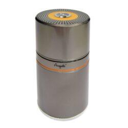 Humidor na doutníky Angelo 7D, cestovní-Cestovní humidor na doutníky s kapacitou 7 doutníků. Dodáván s vlhkoměrem a zvlhčovačem. Rozměr: 20x9 cm. Provedení: kovové.
