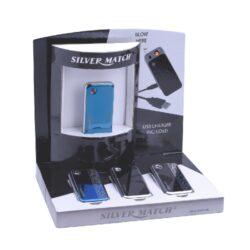 USB Zapalovač Silver Match Roding, el. zapalování(674188)