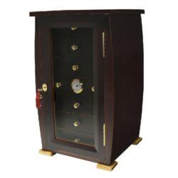 Humidor na doutníky Angelo Cabinet 140D, stolní-Stolní humidor na doutníky s kapacitou cca 140 doutníků. Dodáván s vlhkoměrem a zvlhčovačem. Vnitřní rozměr zásuvky 22,5x22,5x4,5 cm. Celkový rozměr humidoru 53x31x30 cm.