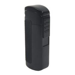 Doutníkový zapalovač Hadson Terz, černý-Doutníkový zapalovač. Tryskový zapalovač na doutníky obsahuje integrovaný vyštípávač. Zapalovač je plnitelný. Doutníkový zapalovač je dodáván v dárkové krabičce.  Výška 8cm.