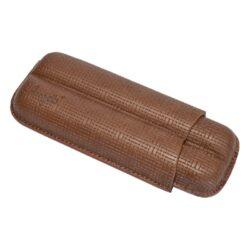 Pouzdro na 2 doutníky Etue Angelo, hnědé, koženka, 160mm-Pouzdro na dva doutníky (Etue). Pouzdro na doutníky je dlouhé 160mm, průměr 21mm. Doutníkové pouzdro je koženkové.